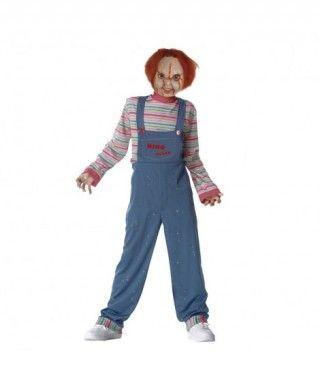 Disfraz de Chucky Muñeco Diabólico niño infantil de Halloween