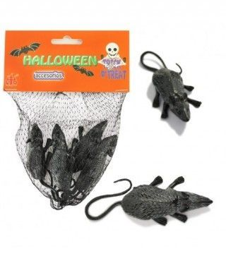 Ratones Decoración Halloween (6 uds)