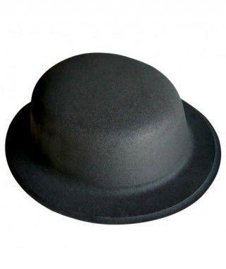 Bombín negro de plástico flocado Accesorio fiesta