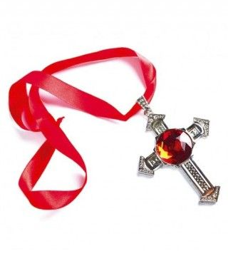 Collar Cruz Gótica de Vampiro Accesorio de Halloween