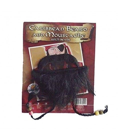 Barba con trenzas y Bigote Postizos de Pirata
