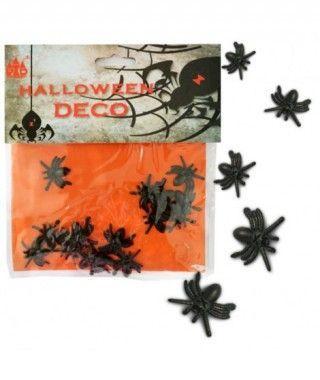 Mini Arañas Decoración Halloween (20 uds)