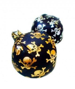 Gorro Pirata Pañuelo calaveras doradas o plateadas Accesorio Carnaval
