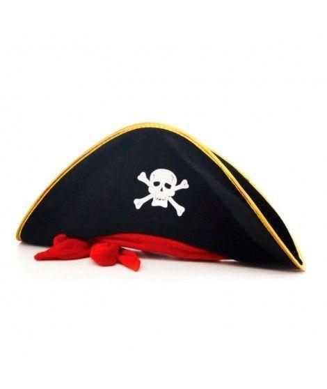 Sombrero terciopelo de Pirata adulto Accesorio