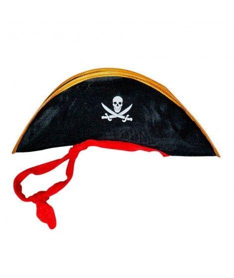 Sombrero terciopelo de Pirata infantil Accesorio