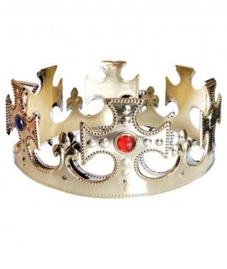 Corona de Rey Cruces Dorada Accesorio
