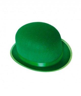 Bombín verde adulto de fieltro Accesorio fiesta
