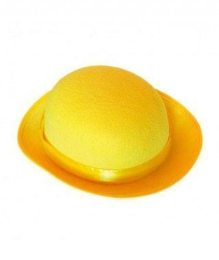 Bombín amarillo infantil de fieltro Accesorio fiesta