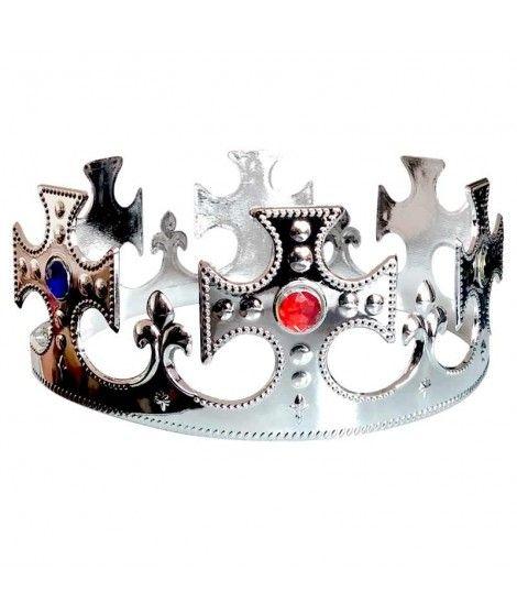 Corona de Rey Cruces Plateada Accesorio