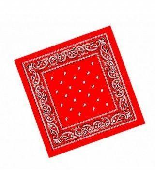 Pañuelo Bandana Vaquero Rapero Paisley rojo