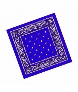 Pañuelo Bandana Vaquero o Rapero Paisley azul marino