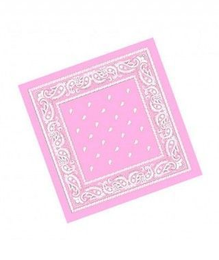 Pañuelo Bandana Vaquero o Rapero Paisley rosa