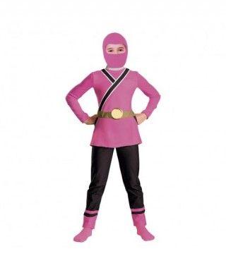 Disfraz Ninja Rosa niña infantil Carnaval