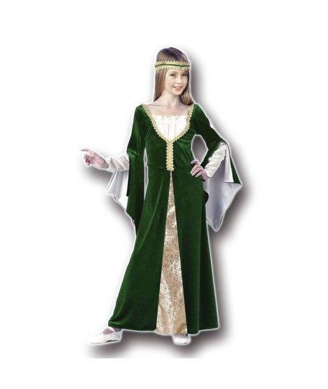 Disfraz Dama Medieval niña infantil para Carnaval