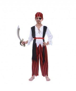 Disfraz Pirata Rayas niño infantil para Carnaval