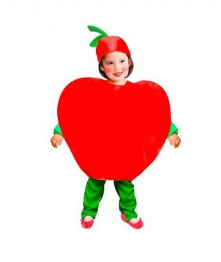 Disfraz Manzana Roja para Niños Carnaval