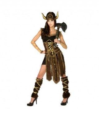 Disfraz Vikinga mujer adulto para Carnaval