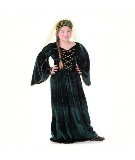Disfraz Reina Medieval Tudor niña infantil para Carnaval