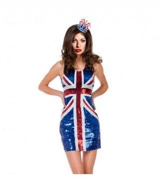 Disfraz Sixty Queen Británica mujer adulto para Carnaval