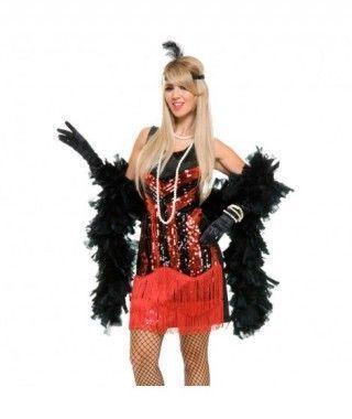 Disfraz Charleston lentejuelas mujer adulto para Carnaval