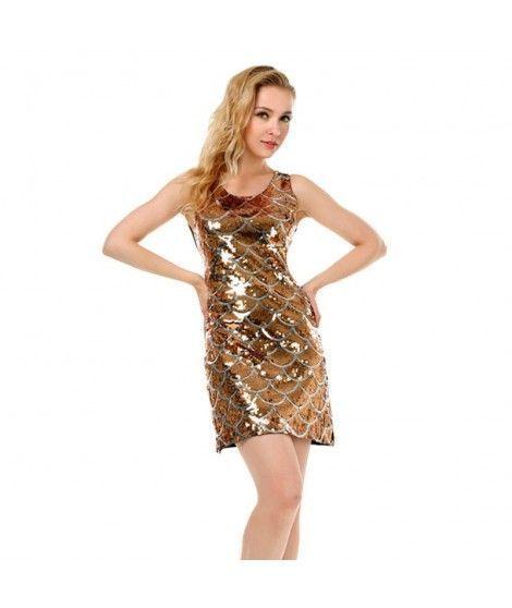 Disfraz Sirena Oro mujer adulto para Carnaval