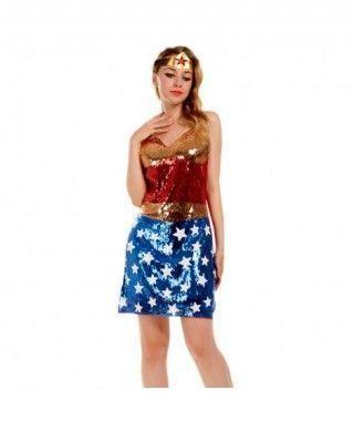 Disfraz Wonder Woman mujer adulto para Carnaval