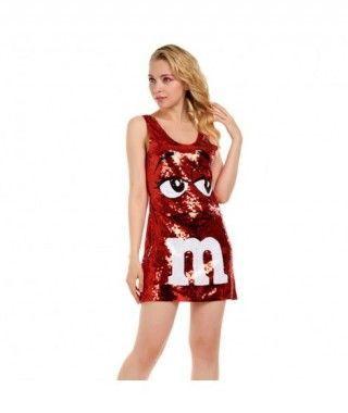 Disfraz M&M Rojo mujer adulto para Carnaval