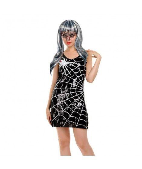 Disfraz Araña Lentejuelas mujer adulto para Halloween