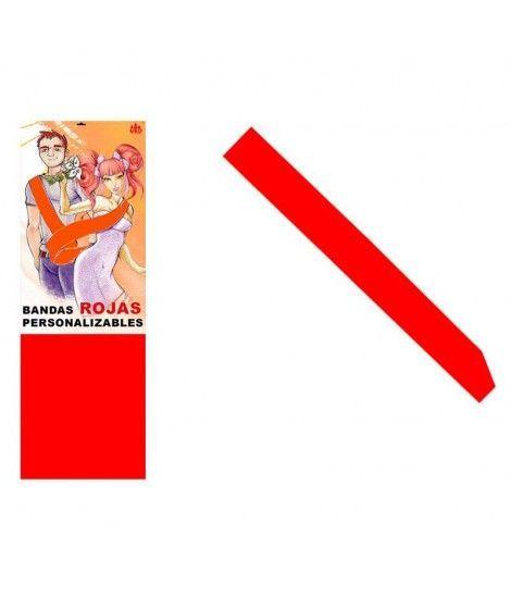 Banda Roja Personalizable para Fiestas (Despedidas, Cumpleaños, Celebraciones)