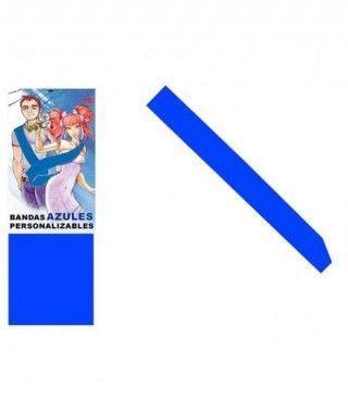 Banda Azul Personalizable para Fiestas (Despedidas, Cumpleaños, Celebraciones)