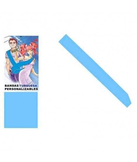 Banda Azul Cielo Personalizable para Fiestas (Despedidas, Cumpleaños, Celebraciones)