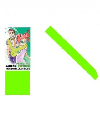 Banda Verde Neón Personalizable para Fiestas (Despedidas, Cumpleaños, Celebraciones)