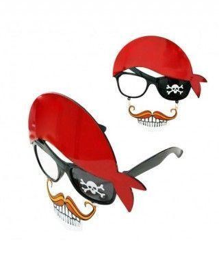 Gafas Pirata Pañuelo Mostacho Accesorio Fiesta