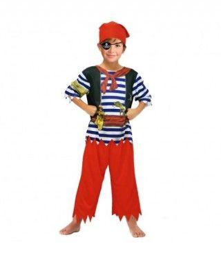 Disfraz Pirata Rayas Azules infantil para Carnaval