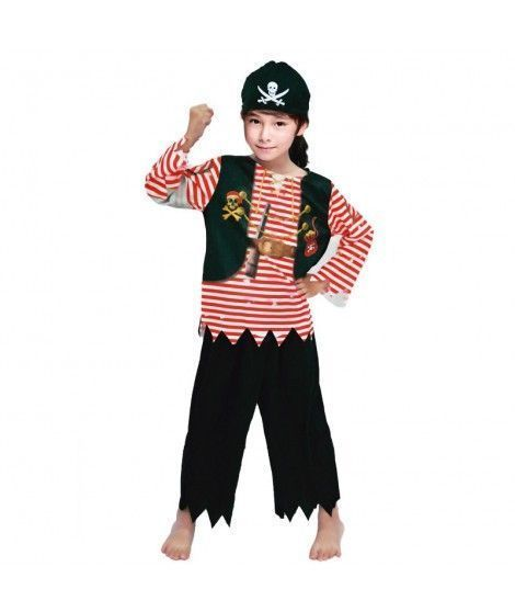 Disfraz Pirata Rayas Rojas infantil...