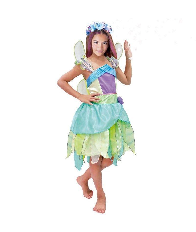 disfraz hada verde nia infantil para carnaval