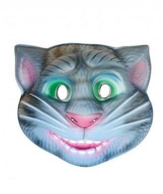Máscara Gatito Gris Sonriente goma eva accesorio Carnaval