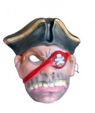 Máscara Corsario fiero goma eva accesorio Halloween