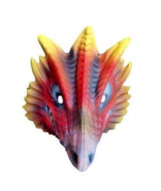 Máscara Dragón rojo goma eva accesorio Carnaval