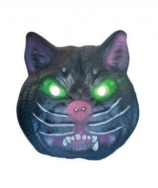 Máscara Gato Negro Feroz goma eva accesorio Halloween