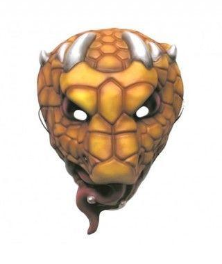 Máscara Serpiente Venenosa goma eva accesorio Halloween