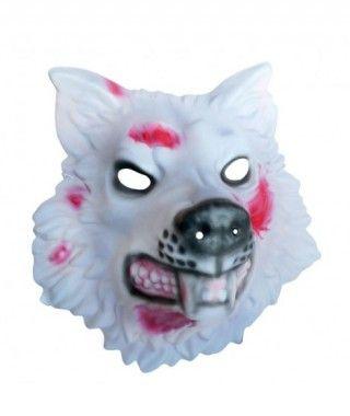 Máscara Lobo Zombi goma eva accesorio Halloween