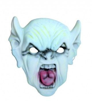 Máscara Demonio verde goma eva accesorio Halloween