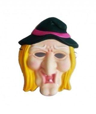 Máscara Bruja Piruja infantil goma eva accesorio Halloween