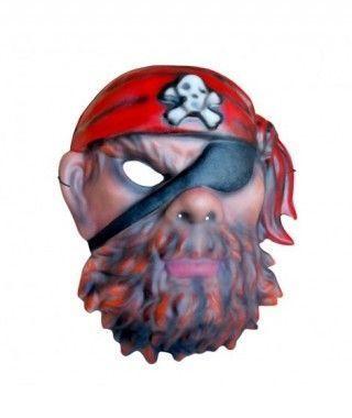 Máscara Pirata Barbudo goma eva accesorio Carnaval