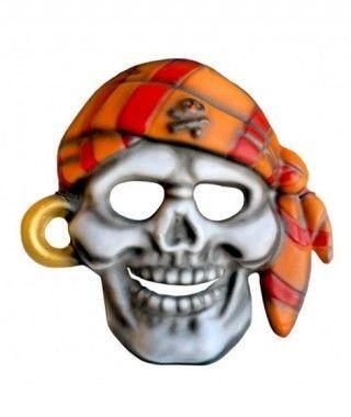 Máscara Calavera Pirata goma eva accesorio Halloween