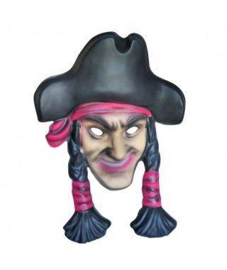 Máscara Pirata Trenzas goma eva accesorio Carnaval