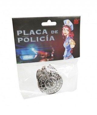 Placa de Policía Accesorio Carnaval