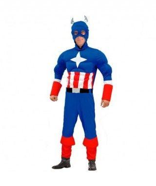 Disfraz Héroe América hombre adulto para Carnaval
