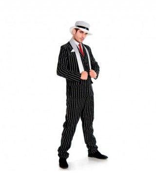 Disfraz Gangster traje hombre adulto para Carnaval